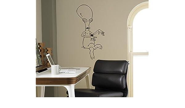 Autocollant mural Vinyle autocollant American Dad Roger Cartoons Home Art Int/érieur amovible D/écor enfants Chambre denfant Housewares 8/ AMD