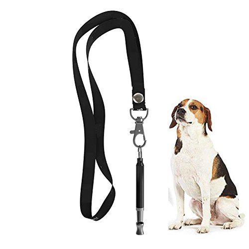 ZDCDEALS Professionelle Ultraschall-Hundepfeife zum Stoppen von Bellen und Ultraschalltraining, verstellbar, für Hunde, mit Umhängeband -