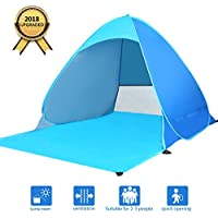 Elover Beach Tent Pop Up Sun Shelter Anti UV for 2-3 Person Outdoor Travel Family Beach