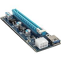 KOLINK PCI-E 1x bis 16 x 1M Bitcoin-Karten-Riser-Mining- / Rendering-Kit mit 80-cm-Grafik-Vertikalhalterung Mini…