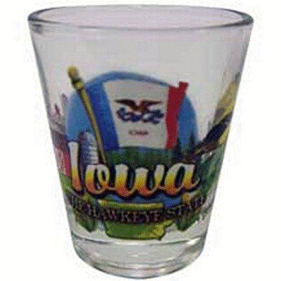 Iowa Hawkeye State Elements Shot Glass by World By Shotglass