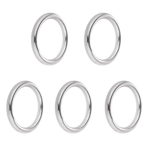 Baoblaze 5er-Pack Edelstahlringe poliert Edelstahl O Ring - 4 x 35mm