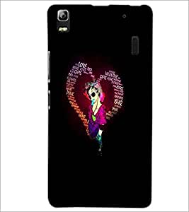 PrintDhaba Typographic Heart D-2720 Back Case Cover for LENOVO K3 NOTE (Multi-Coloured)