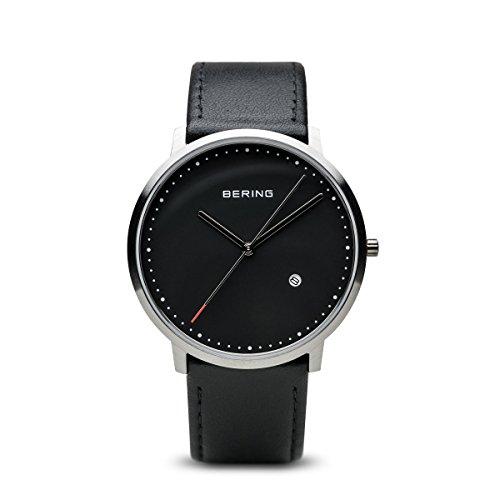 Bering Time - 11139-402 - Montre Homme - Quartz Analogique - Bracelet Cuir Noir