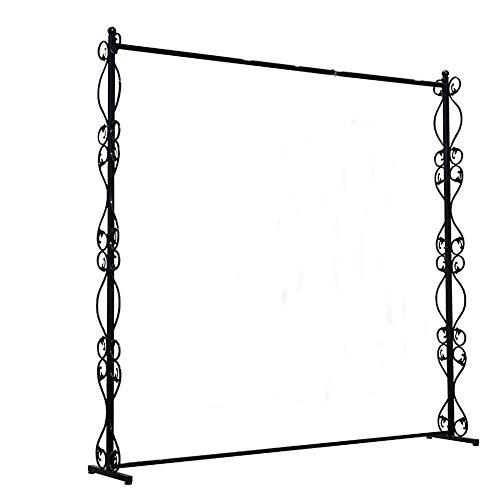 SYT Hangers Espositore per abbigliamento appendiabiti da terra in ferro battuto espositore per abbigliamento personalizzato, 120x180cm, a