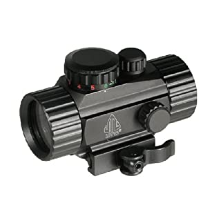 UTG Leuchtpunktvisier 4 Zoll Compact Ita Target Dot Sight With Integral QD Picatinny Mount, Schwarz, SCP-RG40SDQ