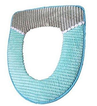 5Five Kord thickened Toilettensitz mit Wasserdichte Toilettenschüssel Plüsch Warm WC-Sitz-Pad blau (Wc-sitze Blau)