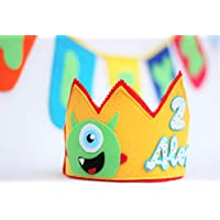Corona de cumpleaños, corona de fieltro personalizada.