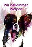 Wir bekommen Welpen: Australian Shepherd Trächtigkeit Hunde Hund Welpe Einschreibbuch Terminplaner  Achtsamkeit Fürsorge -