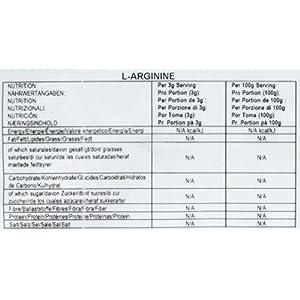 Bulk L-Arginine Powder, 500 g, Packaging May Vary