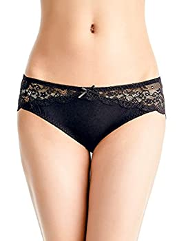 Besserbay Women's Lace Bikini Panties Low-rise Hipster Comfortable Ultra Soft Underwear Assorted Colors Pack 2 Bu4024 M 1