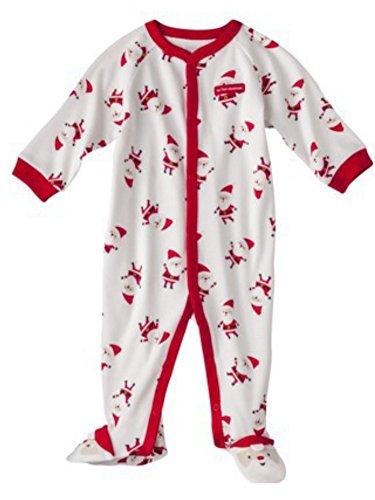Schlafanzug Baby Strampler Weihnachten Baumwolle Chistmas Santa Unisex Junge Mädchen (56/62)