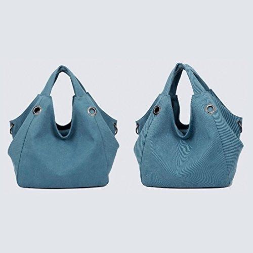 Borse a spalla, iTECHOR Donna Borse a spalla Moda Speciale Design Grande capacità Borse Tote Borsoni Tela Totalizzatore Borse a mano Borse Hobo Bag Borse a tracolla Blu