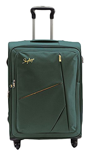 Skybags-Polyester-68-cms-Green-Soft-Sided-Suitcase-STSPOW68GRN