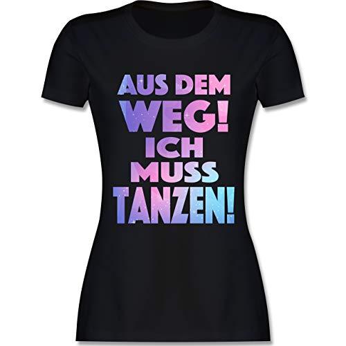 Festival - Aus dem Weg! Ich muss tanzen! - S - Schwarz - L191 - Damen Tshirt und Frauen T-Shirt