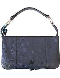 c6cc223c3f GABS Pochette Black Fiori di Loto ELENA Tg. S Blu 050T1 X0605 C3001