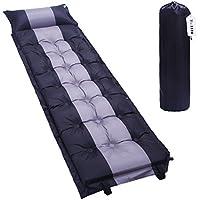 Kottle portable impiombato autogonfiabili dormire materasso Mat/Pad per il campeggio, escursionismo, accessori per tende (Nero +