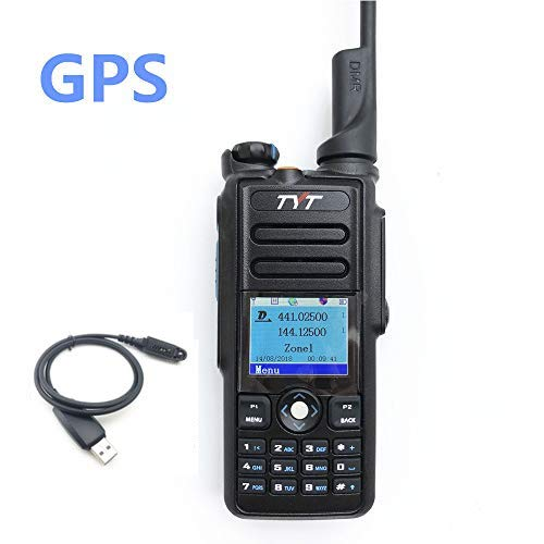 Walkie Talkie TYT MD-2017 Handheld Dual Band Digital DMR Two Way Radio with  GPS and Programming Cable