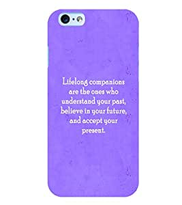 Fuson 3D Printed Quotes Designer back case cover for Apple I Phone 6 - D4589