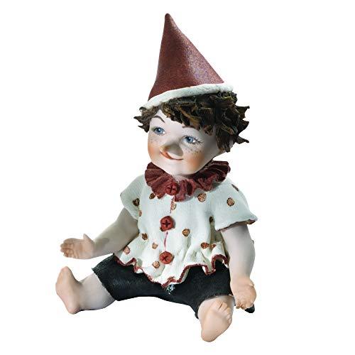 Estatua de Porcelana Pinocchio pequeña - Muñeca de Porcelana Elegante decoración Artesanal, fabricación clásica artística Vicentina - Made in Italy