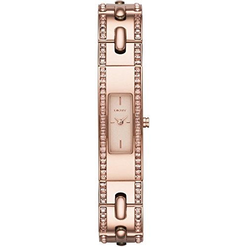 DKNY Unisex Analogue Watch with golden Dial Analogue Display and Stainless steel plated - NY2176