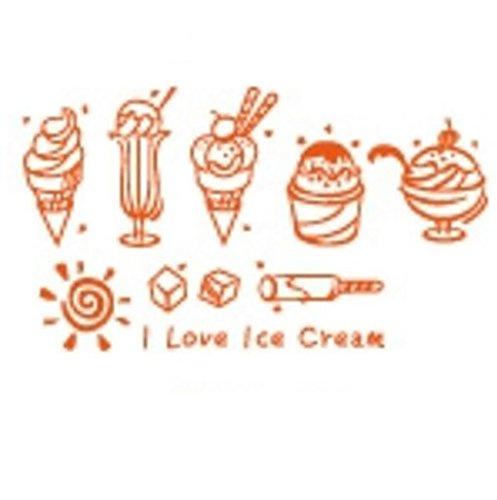 Ice cream,kalte getrnke shop,konditorei,fenster fensteraufkleber glas,dekorative wand-aufkleber-C