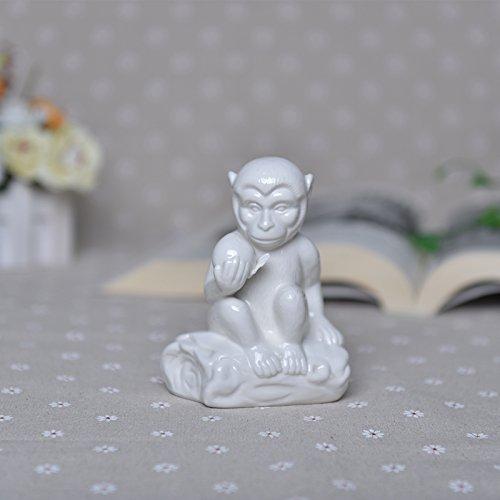 Zwölf Keramik Tiere Tierkreiszeichen Feng Shui lucky Tischdekoration Büro Dekoration Monkey