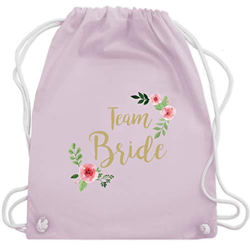 JGA Junggesellinnenabschied - Team Bride Blumen vintage - Unisize - Pastell Rosa - WM110 - Turnbeutel & Gym Bag Vintage Blumen-prints