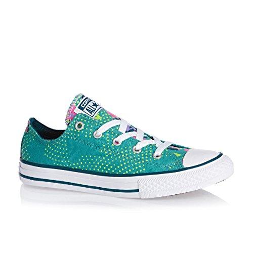 Converse Chuck Taylor All Star Junior Stagionale Bue 15762 Unisex - Kinder Sneaker Aegean Aqua