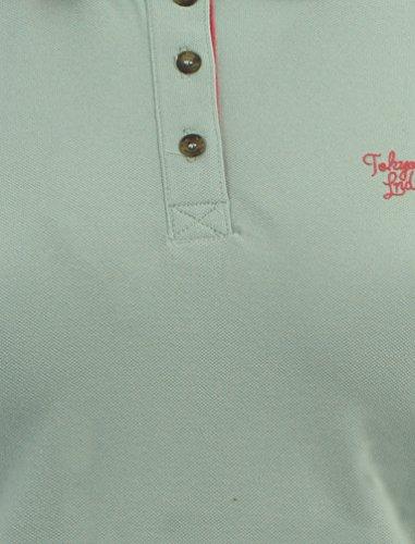 Tokyo Laundry Damen Harley Kurzarm Basic Halsausschnitt Poloshirt Größe 8-16 Pastell Türkis