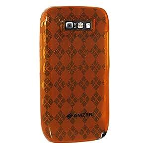 Amzer 86616 Luxe Argyle Skin Case - Orange for Nokia E71