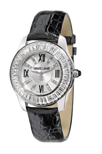 Roberto Cavalli Fugit R7251147645 - Reloj de mujer de cuarzo, correa de piel color negro