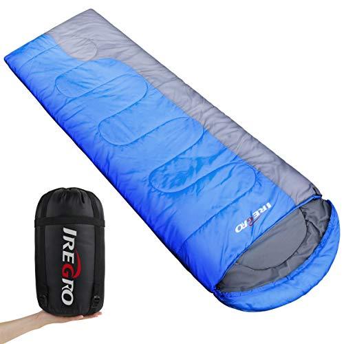 IREGRO Schlafsack Deckenschlafsack Mumienschlafsack Ultraleicht Sleeping Bag für Camping Wandern Outdooraktivitäten (XF)
