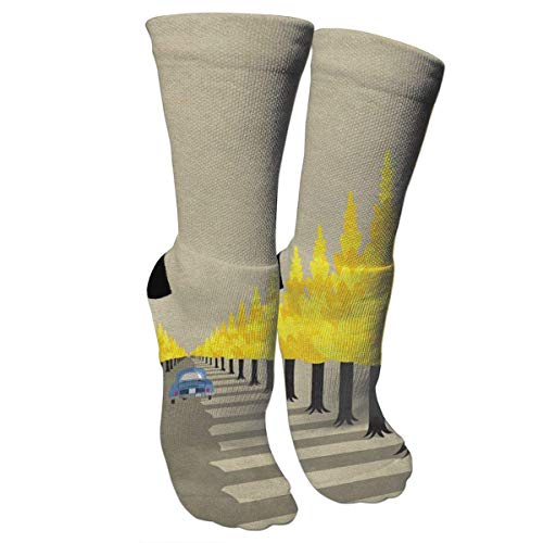 Kotdeqay Crazy Socks Tree and Shade 3D Crew Socks