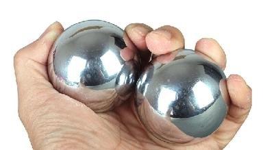 Echo &kern 2 x 50 mm Baoding Stahlkugeln Chinesische Gesundheit Übungen Stress Bälle ca. 0,3 kg - Gesundheit Stress-bälle