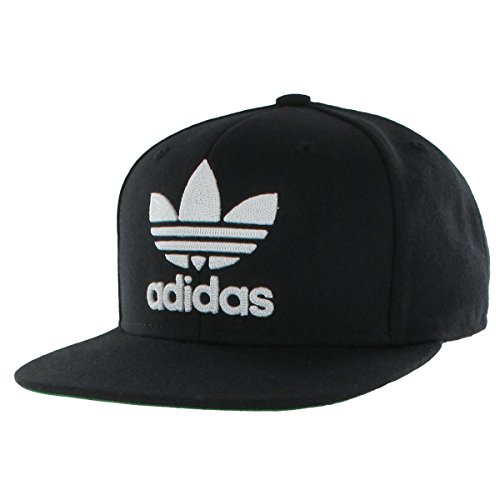 36271fd43acd5 adidas Men's originals snapback flatbrim cap, Black/White, One Size