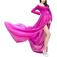 Happy cherry Maxi Vestidos de Maternidad Fotografía Props Disfraz Apoyo Fotográfico para Mujeres Embarazadas