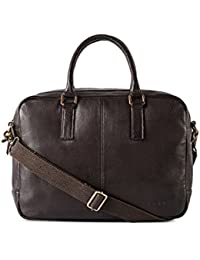 Gauge 15.5 Inch Leather Laptop Bag Messenger Bag Office Briefcase College Bag For Men
