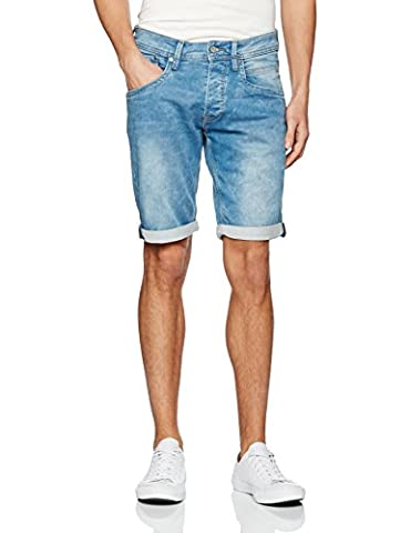 Pepe Jeans Track, Short Homme, Bleu (Denim), (Taille Fabricant: 36)