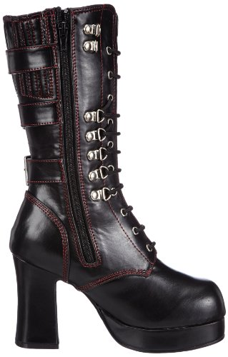 Demonia GOTHIKA-101 Damen Stiefel Schwarz (Blk Vegan Leather)