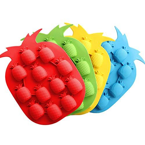 Depory Silikon Ananas Eiswürfelform Werkzeuge Schokolade Eisform Farbe Zufällige DIY Schöne Gefrierbar Zufällige Farbe