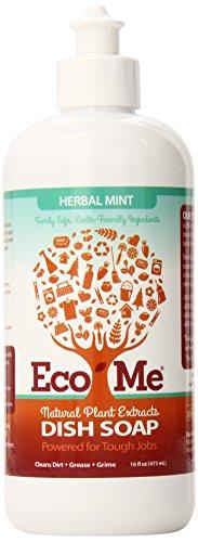 Eco-Me Dish Soap, Herbal Mint, 16 Fluid Ounce