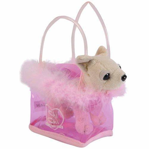 Simba-Toys-105891717-ChiChi-Love-Fancy-Feathers-Cagnolino-in-una-borsa-Colore-Bianco