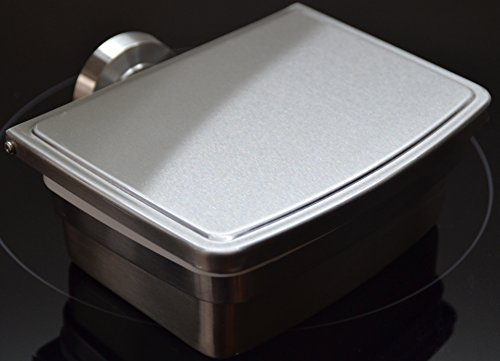 Feuchttücherbox aus hochwertigem Edelstahl - freistehend oder zur Wandmontage