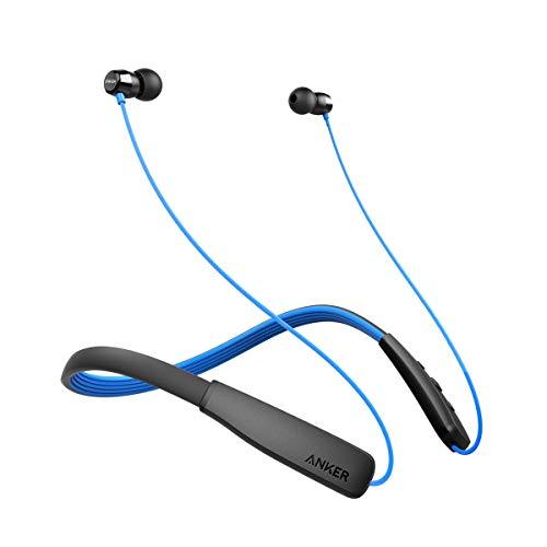 Anker SoundBuds Lite Bluetooth Kopfhörer, Leichtes Nackenband Headset, IPX5 Wasserfestes Sport In-Ear-Headset mit Geräuschreduzierung und In-Line Mikrofon (Blau) thumbnail
