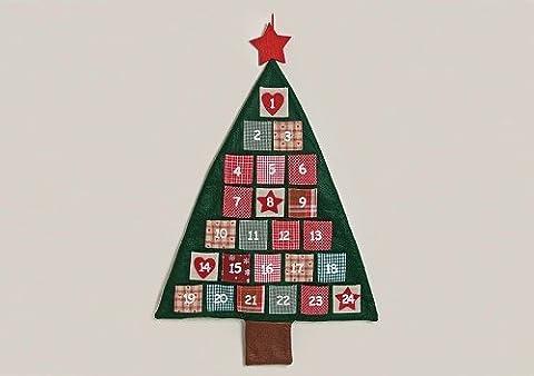 Adventskalender zum Befüllen aus Filz | 95cm x 60,5cm | Weihnachtskalender für Kinder & Erwachsene | Adventskalender Tannenbaum für Weihnachten | Geschenk-Kalender zum Aufhängen als