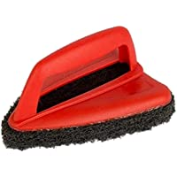 Sulfar Bathroom Brush with Abrasive Scrubber for Superior Tile Cleaning, Black, 1403