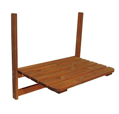 Mesa Balcón de madera 63x 40cm mesa plegable mesa colgante Balcón Mesa plegable maciza