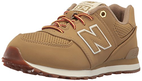 New Boy Toddler Sneakers Balance (New Balance Boys' KL574V1 Sneakers, Tan, 5.5 W US Toddler)