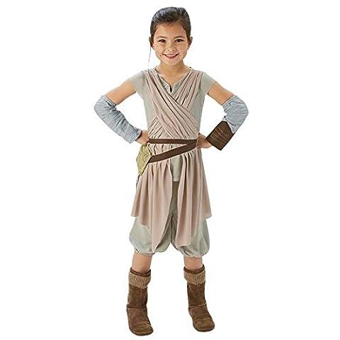 Costume Rey enfant Déguisement Star Wars enfants M (128 cm) Tenue de jedi carnaval habits La Guerre des étoiles chevalier jedi vêtement défilé fille tenue de cosplay